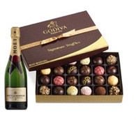 Moet & Chandon w/Dark Chocolate Godiva 24pc. Truffles