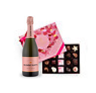 Romantic Godiva Box w/Mumm Napa Rose Champagne