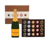 Leather Box of Liqueurs w/Champagne