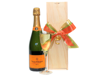 Veuve Clicquot Brut Wood Case