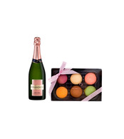 Chandon Rose Champagne w/6pc Macarons