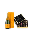 Veuve Clicquot w/Dark Godiva Chocolates