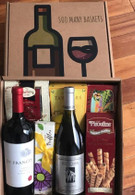 Two Bottle Wine Gift Box & Snacks