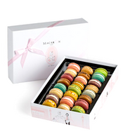Large Box of Pastel Macarons