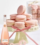 Champagne Macarons w/Rose Wine
