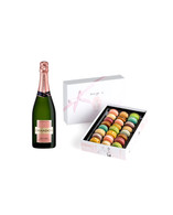 Large Box of Macarons w/Chandon Rose Champagne