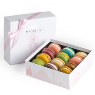 12pc Box Pastel Macarons