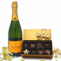 Veuve Clicquot Brut w/Godiva 8pc Chocolates