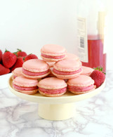 Strawberry Macarons & Rose