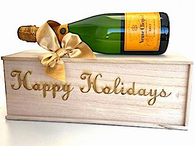 Happy Holidays Crate w/Veuve Clicquot