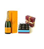 Veuve Clicquot Brut w/Chocolate Covered Cherries