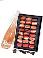 Rose Wine w/Valentine's Day Macarons