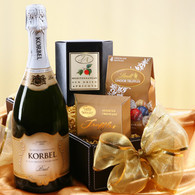 Champagne and Snack Gift Basket