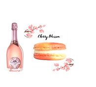 Santa Margherita Brut Rose w/Cherry Blossom Macarons 12pc.