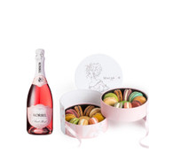 Korbel Rose w/Queen Catherine Macaron Box