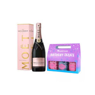 Moet Rose w/Happy Birthday Treats