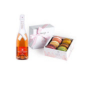 Moet Nectar Imperial Rose w/6pc Macarons