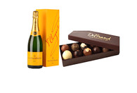 DeBrand Truffle Collection 12pc W/Veuve Clicquot Champagne