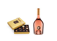 Godiva Gold 12pc Gift Box w/Miraval Rose Wine