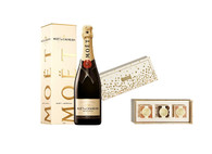 Sweet & Sparkling Candy Box w/Moet Brut Champagne