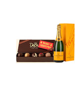 Truffle Collection with Merry Christmas Bar & Veuve Clicquot