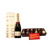 Truffle Collection with Happy Holidays Bar & Moet Brut