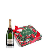 Merry Christmas Candy Box w/Moet Brut Imperial