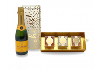 Half Size Veuve Clicquot w/Sugarfina Cheers Candy Box