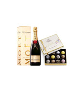 Moet Chandon Brut W/Happy Birthday Godiva Truffles