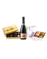 Veuve Clicquot Rose w/Chocolates & Macarons