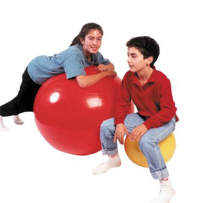 Used to improve balance,coordination, flexibility, and strength. Used by  Therapists  an aid for vestibular  movement and equilibrium therapy. Non-slip surface is ribbed for extra security Under inflate to give a soft, mushy feel or fully inflate for a firm bouncy feel.