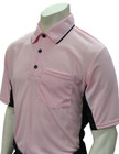 "Smitty ""MLB"" Pink Umpire Shirt w/Black Side Panel"
