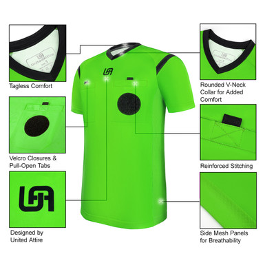 United Attire Referee Jersey (Green)