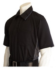 "Smitty ""MLB"" Black Umpire Shirt w/Grey Side Panel"