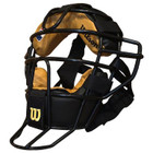 Wilson MLB Steel Umpire Mask w/Leather Pads