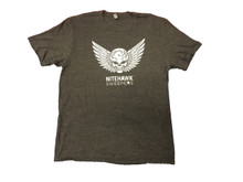 Men's NiteHawk Grey Skull T-Shirt Front