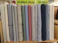 "Shirting Fabrics - 60"" wide"