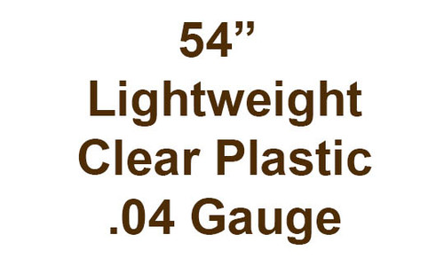 """54"""" Lightweight clear plastic .04 gauge by the yard"""