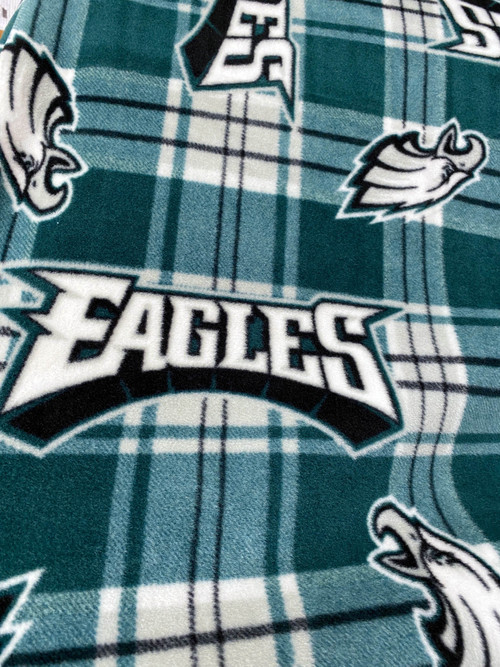 "62"" Philadelphia Eagles Polar Fleece on Plaid background"