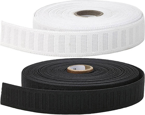 """1"""" non roll elastic available in White or Black"""