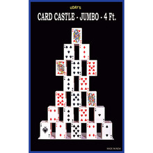 Card castle 4 Feet (JUMBO) by Uday