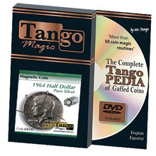 Magnetic Coin Half Dollar 1964 (w/DVD) (D0137) by Tango