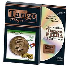 Steel Core Coin US Half Dollar (w/DVD) by Tango -Trick