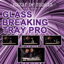 Glass Breaking Tray Pro (Tray and DVD) by Bazar de Magia