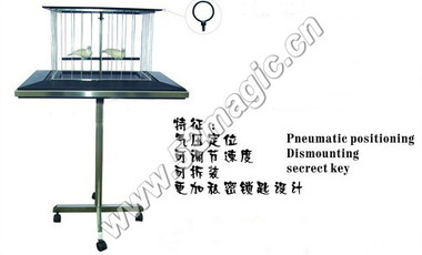 At any point in his act the performer, after producing several doves, places them inside a handsome cage with gleaming silver bars sitting atop a thin table. After covering both the cage & doves with a beautiful red folard, he then picks the cage up OFF the table and stands center stage and tosses it high into the air. The folard gracefully floats to the stage completely empty -- the cage and doves are gone!   The entire unite is folding apart (3 pieces),Take you 2 minutes to build it before the show and 1 minute to fold it after the show.  Including: Cage (Leg, table/cage, cloth,) You just supply the doves!