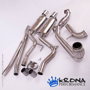 "KRONA 2015+ MUSTANG ECOBOOST 3"" STAINLESS TURBOBACK EXHAUST SYSTEM WITHOUT CATAYLST"