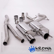 KRONA 2015+ Ecoboost Mustang Stainless Catback Exhaust