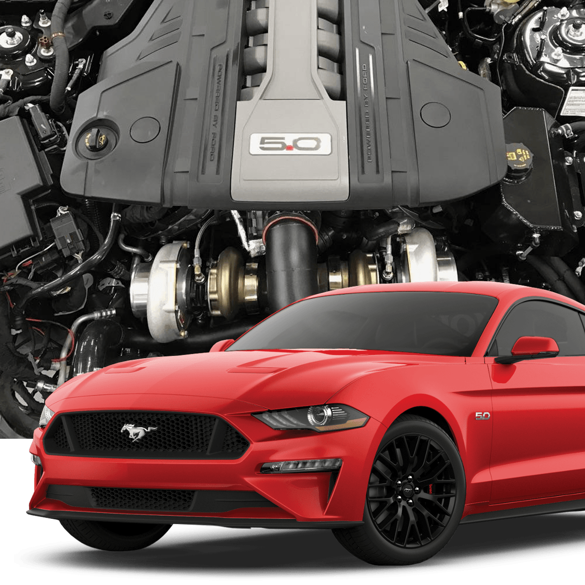 HELLION 2018+ Ford Mustang GT Twin Turbo System
