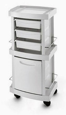 Hygienic storage unit for podiatrists