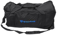 """Rockville RRB4 4U Space Pro Audio Rack Bag with Shoulder Strap 8"""" Inch Depth"""